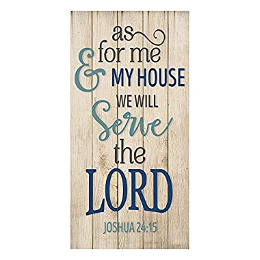PotteLove As For Me And My House We Will Serve The Lord Wall Sign 9x18