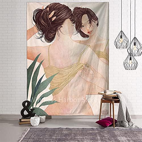 Yeepho Los Tapices De Impresión De Pareja Son Adecuados Para La Habitación, El Dormitorio, La Sala De Estar, La Decoración De La Pared Del Hogar Del Artista