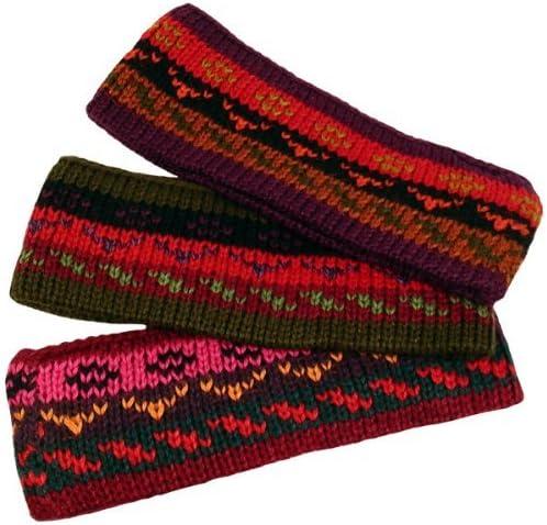 Three Alpaca Knit Headband Assortment Fine Winter Warmth
