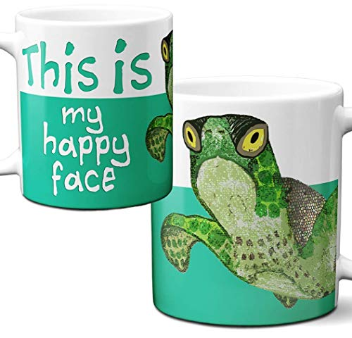 Happy Face Sea Turtle Mug by Pithitude - One Single 11oz.White Coffee Cup