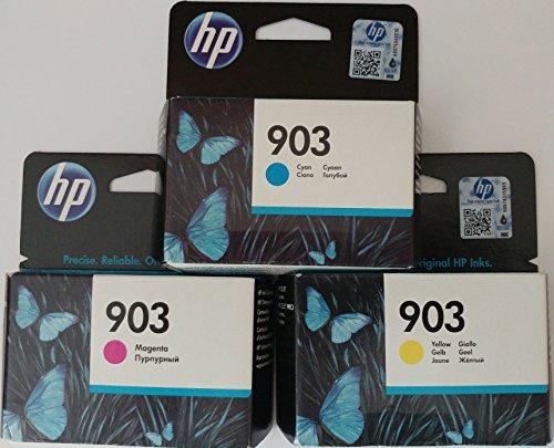 HP 903 Cyan/ Magenta/ Gelb Original Druckerpatronen für HP Officejet 6950, HP Officejet Pro 6960 6970