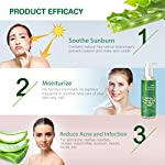 Gel Aloe Vera Bio 100% - hydratant Visage,Hydratant naturel, Riche en vitamines et minéraux - Idéal pour les peaux sèches et stressées et les coups de soleil, l'acné, Calmant Aprés Epilation #2
