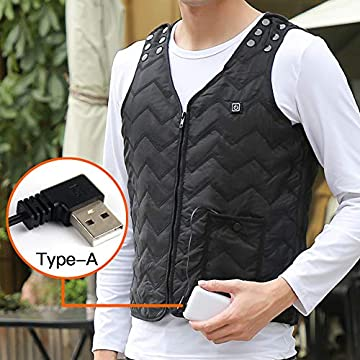 Waterproof 40 Degree Heated Vest Men/'s and Women/'s Lightweight Windproof with 5 Heat Zones and Can Be Used in The Cold Weather as Low as