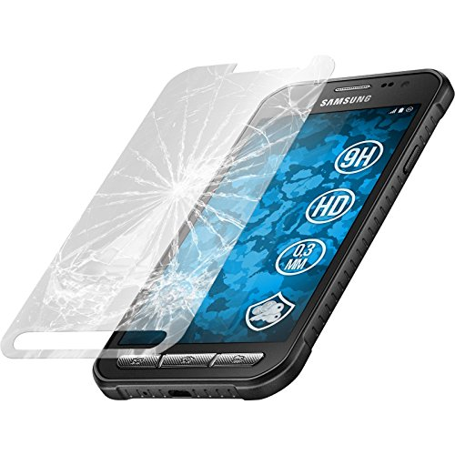 2 x Glas-Folie klar für Samsung Galaxy Xcover 3 PhoneNatic Panzerglas für Galaxy Xcover 3
