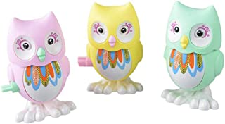 yotijay 3 Pack Wind Up Owls Toys Clockwork Dolls Party Bag Filler for Toddler Kids