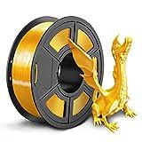 SUNLU シルクPLA 3Dプリンタフィラメント1.75mm金属の質感、 精度+/- 0.02mm、3Dプリンター3Dペン用(1kg 明るい金色)
