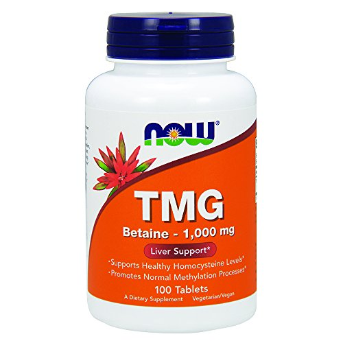 Now Foods | TMG (Trimethylglycin) | 1000mg | 100 vegane Tabletten | glutenfrei