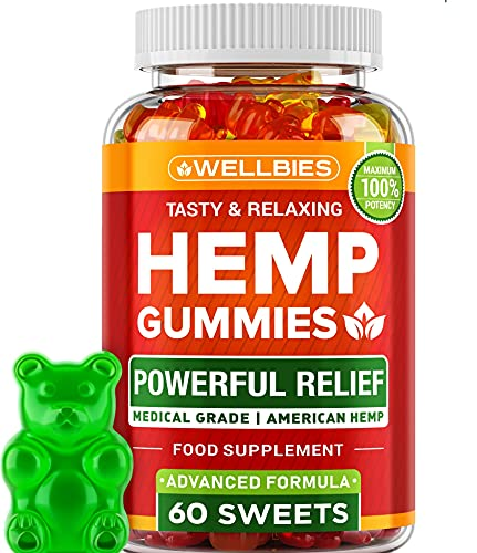 Hemp Extract Gummies - 100% Grown & Made in USA - Immune Support - Omega 3-6-9 Source - Insomnia Relief & Mood Boost