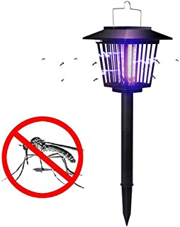 Solar Mosquito Killer Outdoor Portable LED Outdoor Waterproof Garden Landscape Lighting Lawn Lamp with Electric Shock Prot...