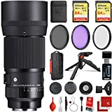 This Sigma 105mm f/2.8 DG DN Macro Art Lens comes with all the manufacturer accessories and a 4-year USA warranty along with a 19-piece bundle which includes 2x SanDisk extreme 64GB memory card, 3-piece filter kit, wrist strap, memory card reader, Ci...