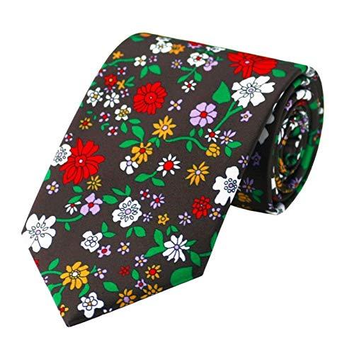 AiKoch Conjunto De Corbata Estampada Conjunto De Gemelos De Corbata For Hombre Floral Conjunto De Chaleco Y Chaqueta De Traje De Boda For Hombre Trend (Color : Multi-Colored)