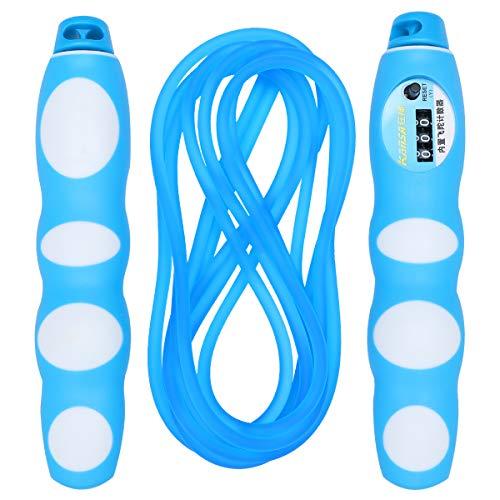 ABOOFAN Springseil mit automatischem Zählen, für Fitness, Workout, Sport, Zubehör für Studenten, Prüfungen, Match Gesundheit (blau)