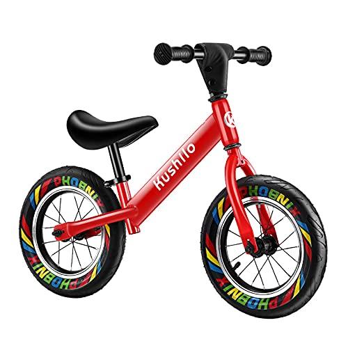 ZLI Bicicleta Equilibrio Bicicleta de Equilibrio para Niña 2-10 Años, Niño Pequeño Grandes Bicicleta de Entrenamiento Sin Pedales con Rueda 12/14/16 Pulgadas, Manillar Ajustable y Giratorio 360°