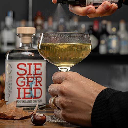 Siegfried Rheinland Dry Gin   Weltweit ausgezeichneter Premium Gin   Micro-batch Gin mit 18 Botanicals   Regionalität und Weltklasse   41% 500ML - 4