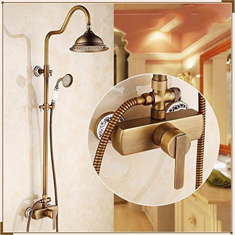 SUHANG Bathroom Copper Antique Shower Bathroom Shower Bathroom ShowerD