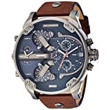 Diesel Men's DZ7314 The Daddies Series Stainless Steel Watch With Brown Leather Band [並行輸入品]