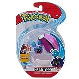 giochi preziosi italy - pokemon clip 'n go con personaggio cosmog e master ball