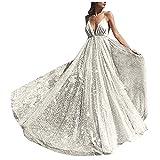 Women Evening Prom Dress Sexy Deep V Neck Backless Sequin Bridesmaid Dress Formal Long Maxi Evening Gown Silver