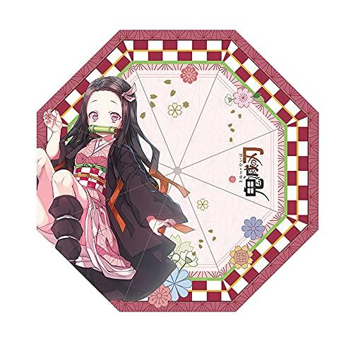 Demon Slayer Umbrella Manual Anti-UV and Windproof Anime Folding Umbrella Suitable for Anime Lovers-Kamado Nezuko