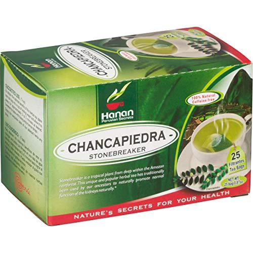 Chanca Piedra Tea - 25 Teabags - Peruvian Naturals | 'Stonebreaker' for Kidney, Stone and Urinary Health
