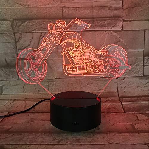 Das elektrische Motorradauto, das 3D modelliert, beleuchtet Illusionsnachtlicht LED-Birnenmehrfarbennote USB-niedrige Lava RGB-Schlafzimmerbeleuchtung ## 4