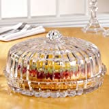 Crystal Clear Alexandria Reversible Pedestal Cake Plate (Does Not Include Dome)