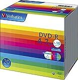 Verbatim バーベイタム 1回記録用 DVD-R 4.7GB 20枚 ホワイトプリンタブル 1-16倍速 片面1層 DHR47JP20V1