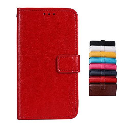 SHIEID Hülle für Nokia 8.1 Hülle Brieftasche Handyhülle Tasche Leder Flip Hülle Brieftasche Etui Schutzhülle für Nokia 8.1(Rot)