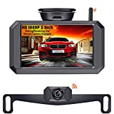 LeeKooLuu F09 5 Inch HD 1080P Wireless Backup Camera 5'' Monitor Stable Digital Signals for Trucks,Campers,Cars,SUVs,Minivans Two Video Channels Rear View Camera System Super Night Vision