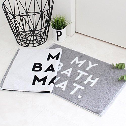 sisdesign MONOTONE MY BATH MAT モノトーン バスマット ホワイト