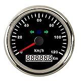 Dhmm123 Digital 85mm GPS Tacho Kilometerzähler 120km / h Überdrehzahl Alarm for Boot Auto LKW...