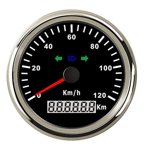 Dhmm123 Digital 85mm GPS Tacho Kilometerzähler 120km / h Überdrehzahl Alarm for Boot Auto LKW Motorrad Spezifisch