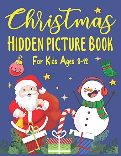 Christmas hidden picture book For Kids Ages 8-12