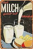 BIGYAK Cartel de decoración de lata con aspecto vintage de leche y desayuno, 20 x 30 cm, para hogar, cocina, baño, granja, jardín, garaje, citas inspiradoras, decoración de pared