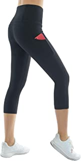 Thick High Waist Yoga Pants with Pockets, Tummy Control Workout Running Yoga Leggings for Women