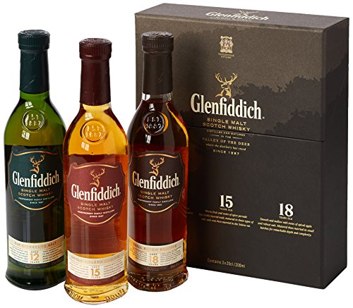 Photo of Glenfiddich Malt Scotch Whisky Taster Gift Pack, 3 x 20 cl