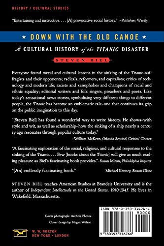 Down With the Old Canoe – A Cultural History of the Titanic Disaster