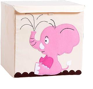 Hey~Yo Boîte de Rangement de Cube avec des Couvercles-Enfants en Bas âge Toile Pliable Jouet Boîte de Rangement de Dessin ...
