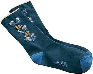 [ベルメゾン] 靴下 レディース ミニラボ 肌側シルクの二重編みソックス 冷え対策にも キュイキュイ ネイビー系 23~25