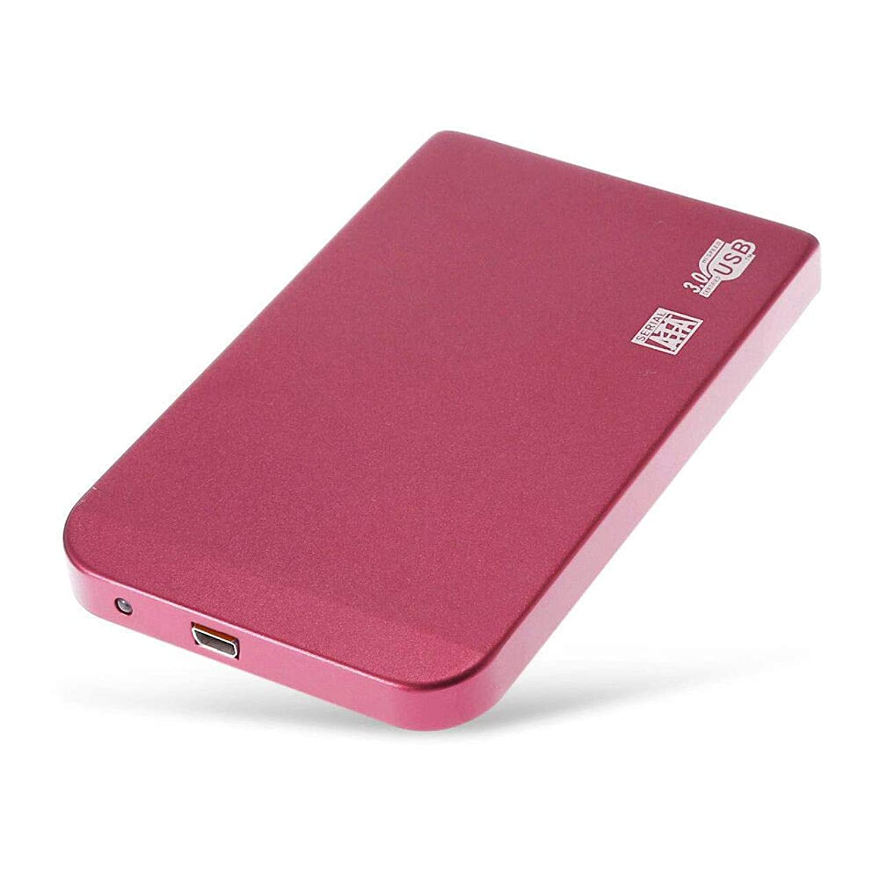 Seamount 3TBUSB 3.0 External Hard Drives with LED Light Disply, High-Speed and Portable Desktop Mobile Hard Disk Case (Red)