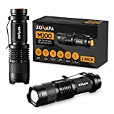 ZONAPA LED Mini Flashlights (2-Pack) Tactical, Compact, Portable | Ultra-Bright Lighting | Indoor and Outdoor Use | Emergency, Camping, Travel, Hiking | Battery Powered … (2 Pack)