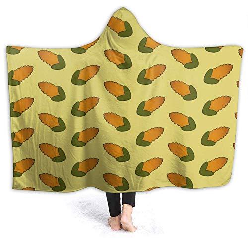 XCNGG Kapuzendecke Hooded Blanket Throw Corncob Curtains Super Soft Sherpa Fleece Blanket Hood Poncho Cloak Cape