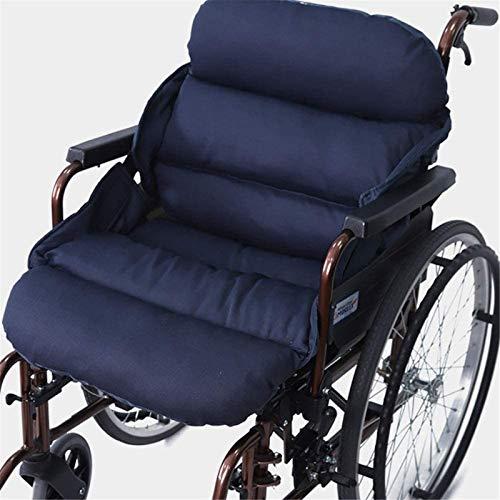 LZW Rollstuhlkissen Anti-Dekubitus-Kissen, Rückenlehnen- und Sitzkissen Rollstuhl-Dekompressionskissen EIN-teiliges Kissen Rücken Ischias Relief Kissen Stuhlkissen