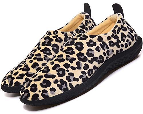 Pantofole da Donna Uomo Inverno Caldo Peluche Morbido Pelliccia Sintetica Scarpe per la casa con Pantofole Stile Mocassino,BeigeLP,38 EU