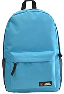 FYXKGLa Fashion New Solid Color Backpack Men and Women Students Backpack Bag Jane Backpack Travel Bag (Color : Sky Blue)