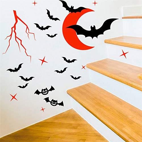 CSCZL Cartoon Red Moon Wandtattoos Kinderzimmer Schlafzimmer Wohnkultur Halloween Fantasy Wandaufkleber Vinyl Wandkunst DIY Wallpaper