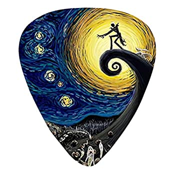 Christmas Starry Night Guitar Picks Gift Set 12-Pack Includes Thin Medium Heavy  for Electric Classic Bass and Acoustic Guitars Unique Guitar Gift