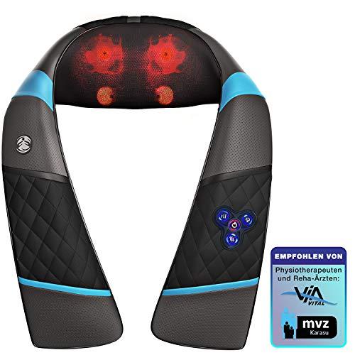 Messeneuheit IFA 3in1 Massagegerät für Schulter Rücken & Nacken, Shiatsu 4D mit Klopfen, Wellness Ganzkörper Nackenmassagegerät & Wärme, RXM200 Schmerztherapie mit Entspannung für Ihr Büro & Zuhause