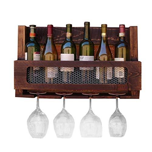 Ldwxxx Botellero de pared para vino, vino, de hierro forjado