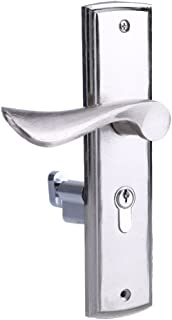 Pestillo para puerta Cerradura de puerta de aleación de aluminio con llaves y accesorios